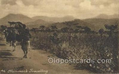 afr100480 - Hammock Traveling African Life Postcard Post Card