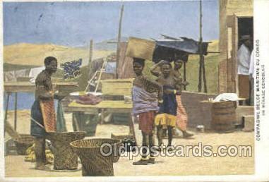 afr100526 - Compagnie Belge Maritime Du Congo African Life Postcard Post Card