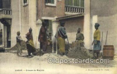 afr100527 - Dakar African Life Postcard Post Card