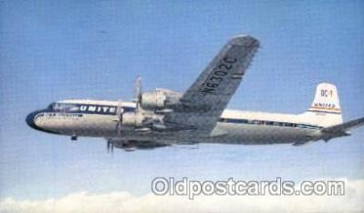 air001088 - United Airlines,DC-7 Airline, Airlines, Airplane, Airplanes, Postcard Post Card