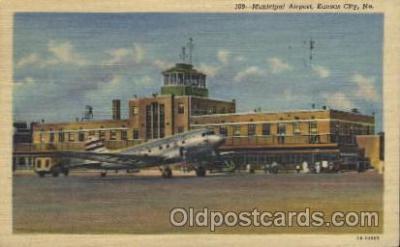 air001115 - Municipal, Kansas City, Mo. Airline, Airlines, Airplane, Airplanes, Postcard Post Card