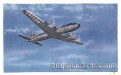 air001151 - United Airline, DC-6 Airline, Airlines, Airplane, Airplanes, Postcard Post Card