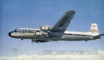 air001291 - United's New DC-7 Airplane, Aviation, Postcard Post Card
