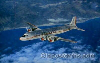 air001304 - DC-7 Airplane, Aviation, Postcard Post Card