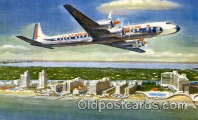 air001319 - Eastern Airlines Golden Falcon DC-7B Airplane, Aviation, Postcard Post Card