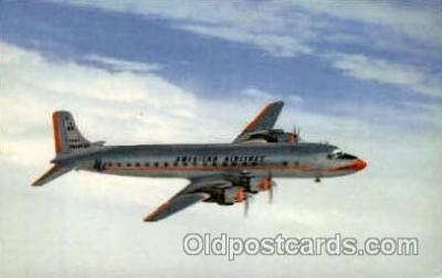 air001327 - American Airlines Mercury Airplane, Aviation, Postcard Post Card