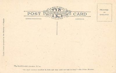 alan011 - Post Card Old Vintage Antique  back