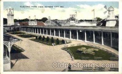 amp001005 - Electric Park Kansas City, MO USA Amusement Park Postcard Post Card