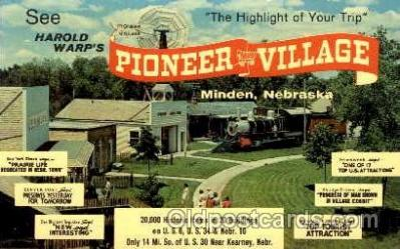 amp001046 - Pioneer Village, Minden, Nebraska USA Postcard Post Card