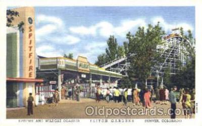 amp001072 - Denver, Colorado, CO, USA, Amusement Park Postcard Post Card
