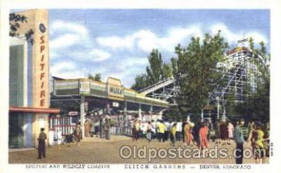 amp001081 - Denver, Colorado, CO, USA, Amusement Park Postcard Post Card