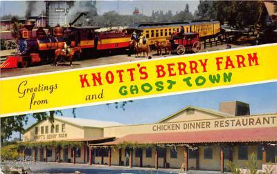 amp005272 - Knott's Berry Farm, Ghost Town, California, CA, USA Postcard