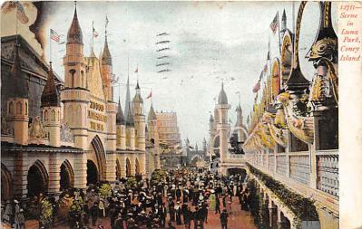 amp100118 - Amusement Park Postcard Post Card