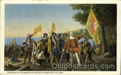 L&ing of Columbus on San Salvador, October 12, 1492