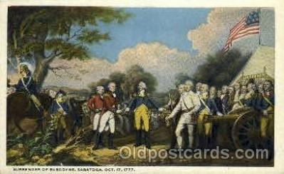 Surrender of Burgoyne, Saratoga, October 17, 1777