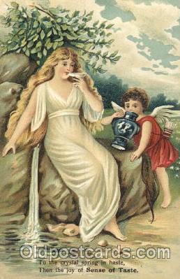 ang001038 - Sense of Taste Angel, Angels, Postcard Post Card
