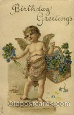 ang001061 - Birthday Greetings Angel, Angels, Post Card Post Card