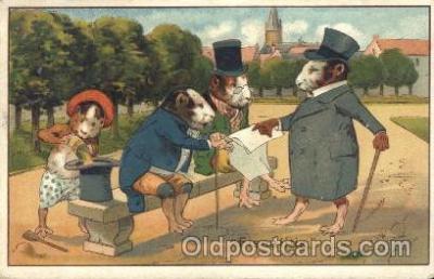ani001109 - Mice and business talk Animal Postcard Post Card