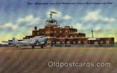 arp001003 - Saint Paul Metropolitan Airport, Minneapolis, MN USA Airport, Airports Post Card, Post Card