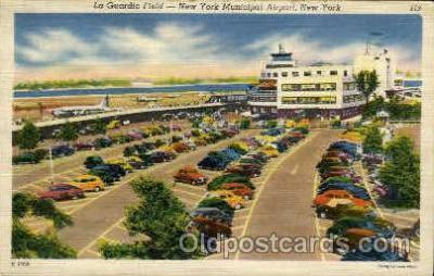 arp001005 - La Guardia Field, New York, NY USA Airport, Airports Post Card, Post Card