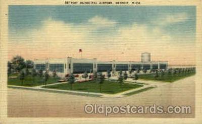 arp001006 - Detroit Municipal Airport, Detroit, MI USA Airport, Airports Post Card, Post Card