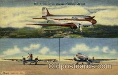 arp001011 - Chicago Municipal Airport, Chicago, IL USA Airport, Airports Post Card, Post Card