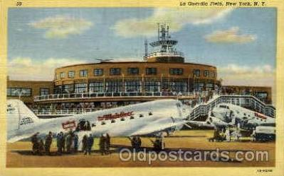 arp001014 - La Guardia Field, New York, NY USA Airport, Airports Post Card, Post Card