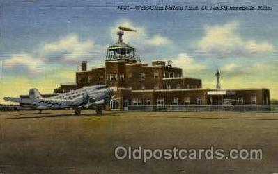 arp001017 - World Chamberlain Field, St Paul, Minneapolis, MN USA Airport, Airports Post Card, Post Card