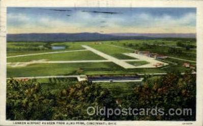 arp001021 - Lunken Airports, Cincinnti, OH USA Airport, Airports Post Card, Post Card