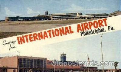 arp001028 - Greetings From International Airport, Philadelphia, PA USA Airport, Airports Post Card, Post Card