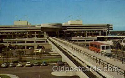 arp001034 - Tampa Internaitonal Jetport Terminal, Tampa Bay, FL USA Airport, Airports Post Card, Post Card