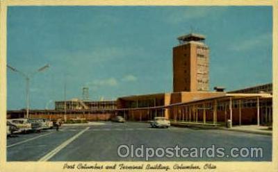 arp001039 - Port Columbus And Terminal Building, Columbus, OH USA Airport, Airports Post Card, Post Card