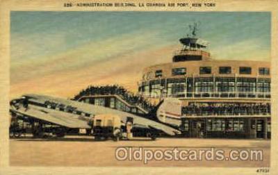 arp001041 - Administration Building  La Guardia Air Port, NY USA Airport, Airports Post Card, Post Card