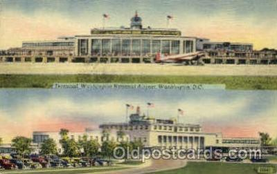 arp001054 - Washington National Airport, Gravelly Point, Washington DC USA Airport, Airports Post Card, Post Card