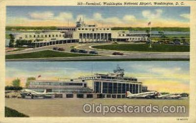 arp001056 - Washington National Airport, Gravelly Point, Washington DC USA Airport, Airports Post Card, Post Card