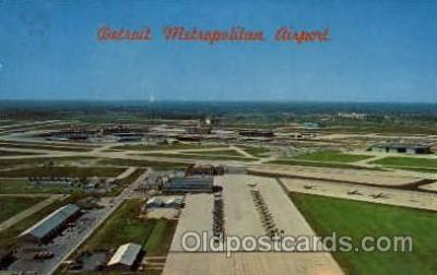arp001060 - Aerial Looking South Detroit Metropolitan Wayne County Airport, Detoit, MI USA Airport, Airports Post Card, Post Card
