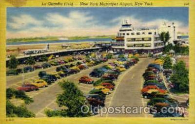 arp001062 - La Guardia Field, New York, NY USA Airport, Airports Post Card, Post Card
