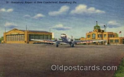 arp001063 - Harrisburg Airport, New Cumberland, Harrisburg, PA USA Airport, Airports Post Card, Post Card