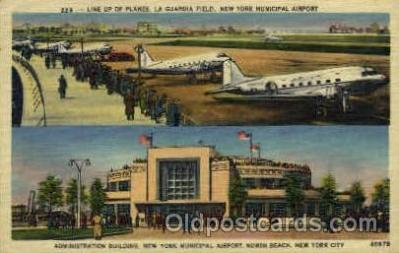 arp001066 - Administration Building New York Municipal Airpot, New York City, NY USA Airport, Airports Post Card, Post Card