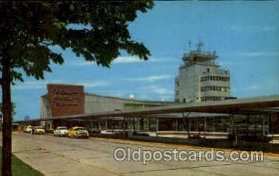 arp001069 - General Mitchell Field Air Terminal, Milwaukee, WI USA Airport, Airports Post Card, Post Card