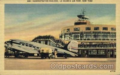 arp001077 - Administration Building, La guardia Ariport, New York City, NY USA Airport, Airports Post Card, Post Card