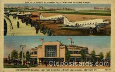 arp001078 - Administration Building, New York Municipal Airport, New York City,NY USA Airport, Airports Post Card, Post Card