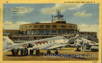 arp001079 - La Guardia Field, New York, NY USA Airport, Airports Post Card, Post Card