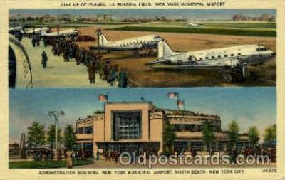 arp001080 - Administation Building New York Municipal Airport, North Beach, NYC, NY USA Airport, Airports Post Card, Post Card