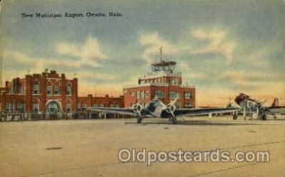 arp001087 - New Municipal Airport, Omaha, NE USA Airport, Airports Post Card, Post Card