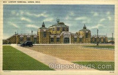 arp001091 - Airport Terminal, Akron, OH, USA Airport, Airports Post Card, Post Card
