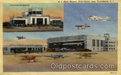 arp001092 - RI State Airport, Hills Grove, Providence, RI USA Airport, Airports Post Card, Post Card