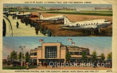 arp001093 - Administration Building, New York Municipal Airport, New York City,NY USA Airport, Airports Post Card, Post Card