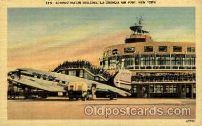 arp001096 - Administration Building, La guardia Ariport, New York City, NY USA Airport, Airports Post Card, Post Card