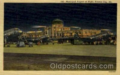 Night At Municipal Airport, Kansas City, MO USA